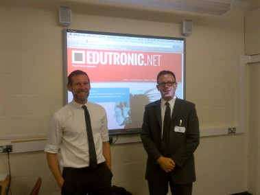 With @Edutronic_Net in his wonderful classroom