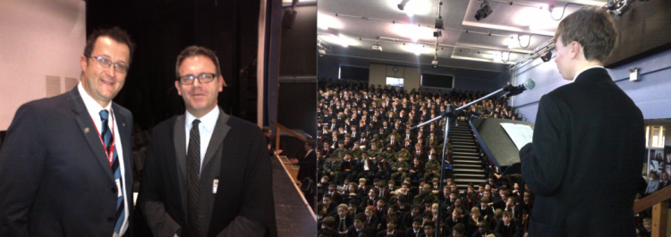 Inspiring speeches: Vic Goddard and our own Barack Obama: Y11, Theo Demolder