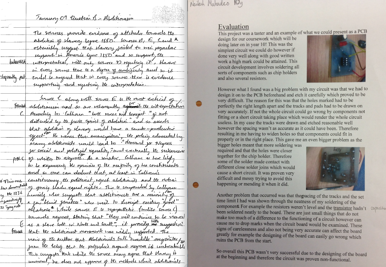 writing a history essay gcse A student guide with some worksheet material, designed to develop essay-writing skills with gcse / igcse history students (3553 views.