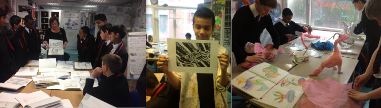 KS3 Art lessons where students' ideas develop along with the confidence to put them into action.