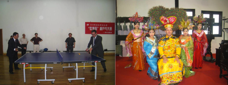 Ping pong diplomacy and bit of Imperial dressing up.
