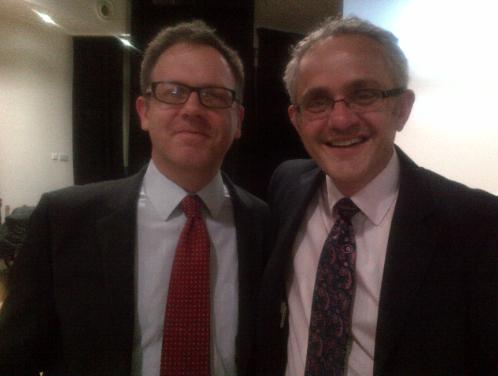 Meeting John Tomsett at Heads' Roundtable, Passmores.