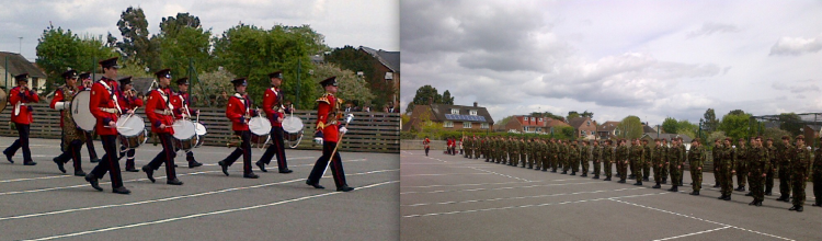 The CCF on parade during the Biennial Inspection