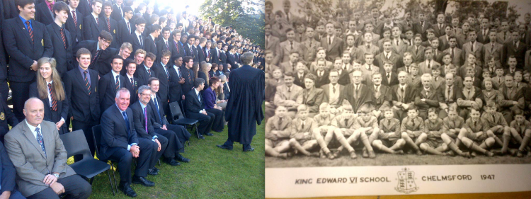 Some things never change. The panoramic school photo...