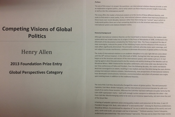 Henry Allen: Competing Visions of Global Politics