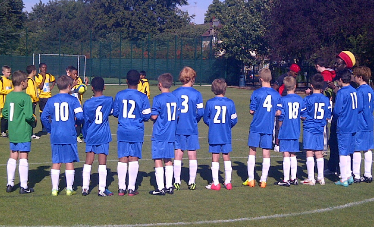 Final tactical briefing and words of encouragement from the coach before kick-off...