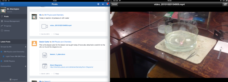 Using Edmodo to capture the learning.