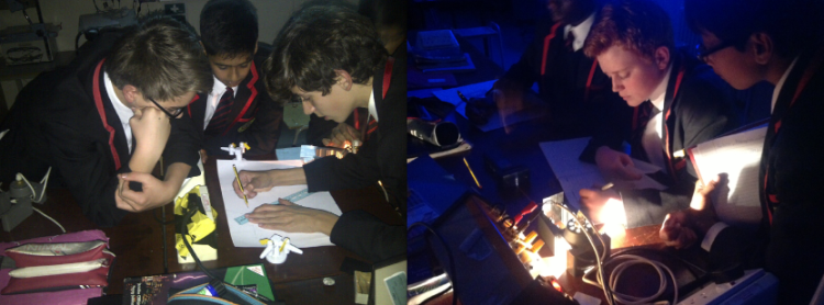 Light Experiments, planned and led by 9M students.
