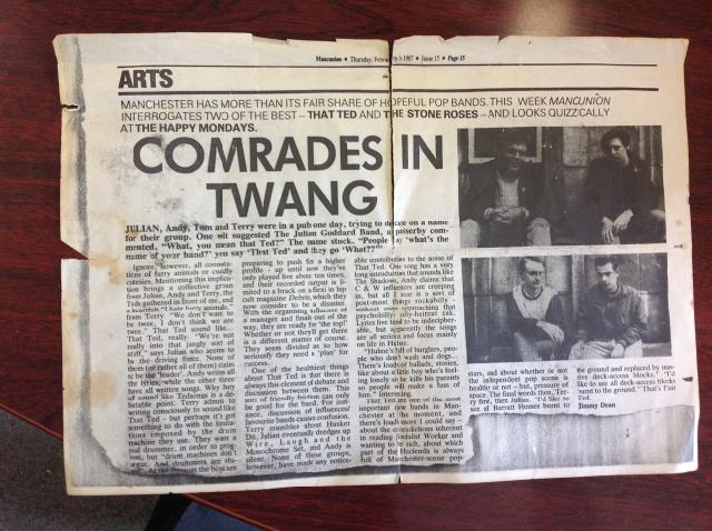 That Ted....Comrades in Twang