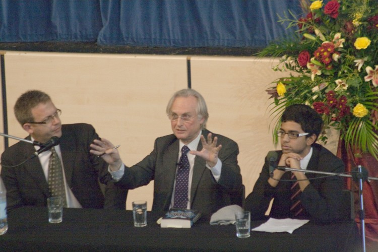 Richard Dawkins in debate at KEGS in 2009