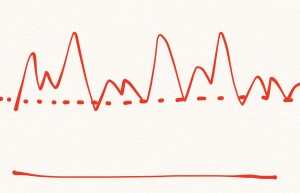 In real life, we have ups and downs.. and a bottom line.