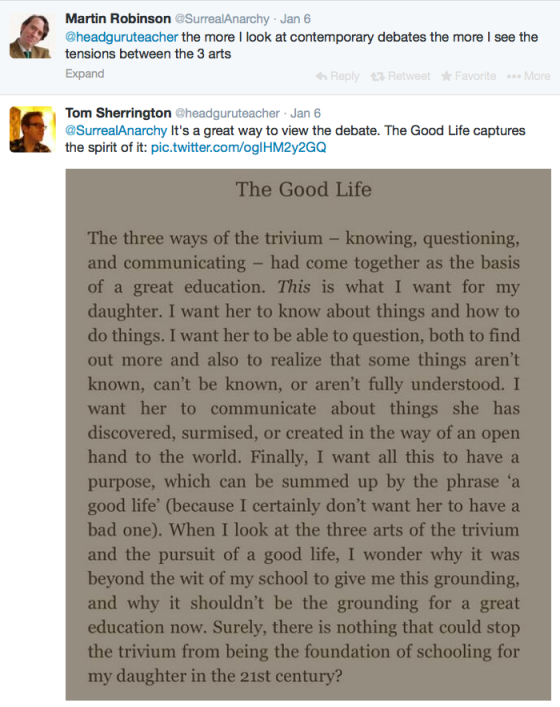 The Good Life.. one of many sections, tweeted from my Kindle.