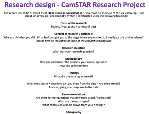 The CamSTAR template.