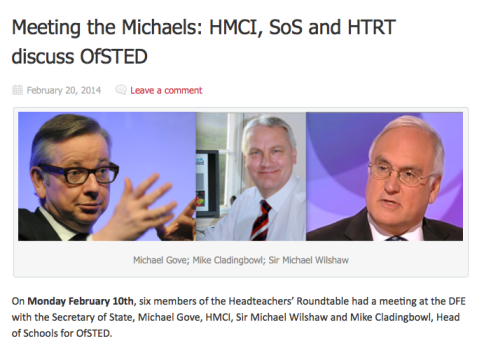 The Headteachers' Roundtable Meeting. Click to follow the link.