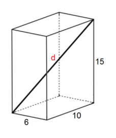 What is the value of d? What angle does it make with each side?