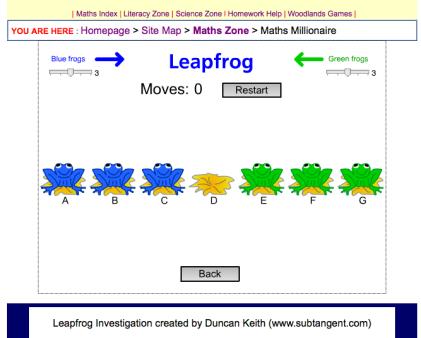 Leapfrog challenge.