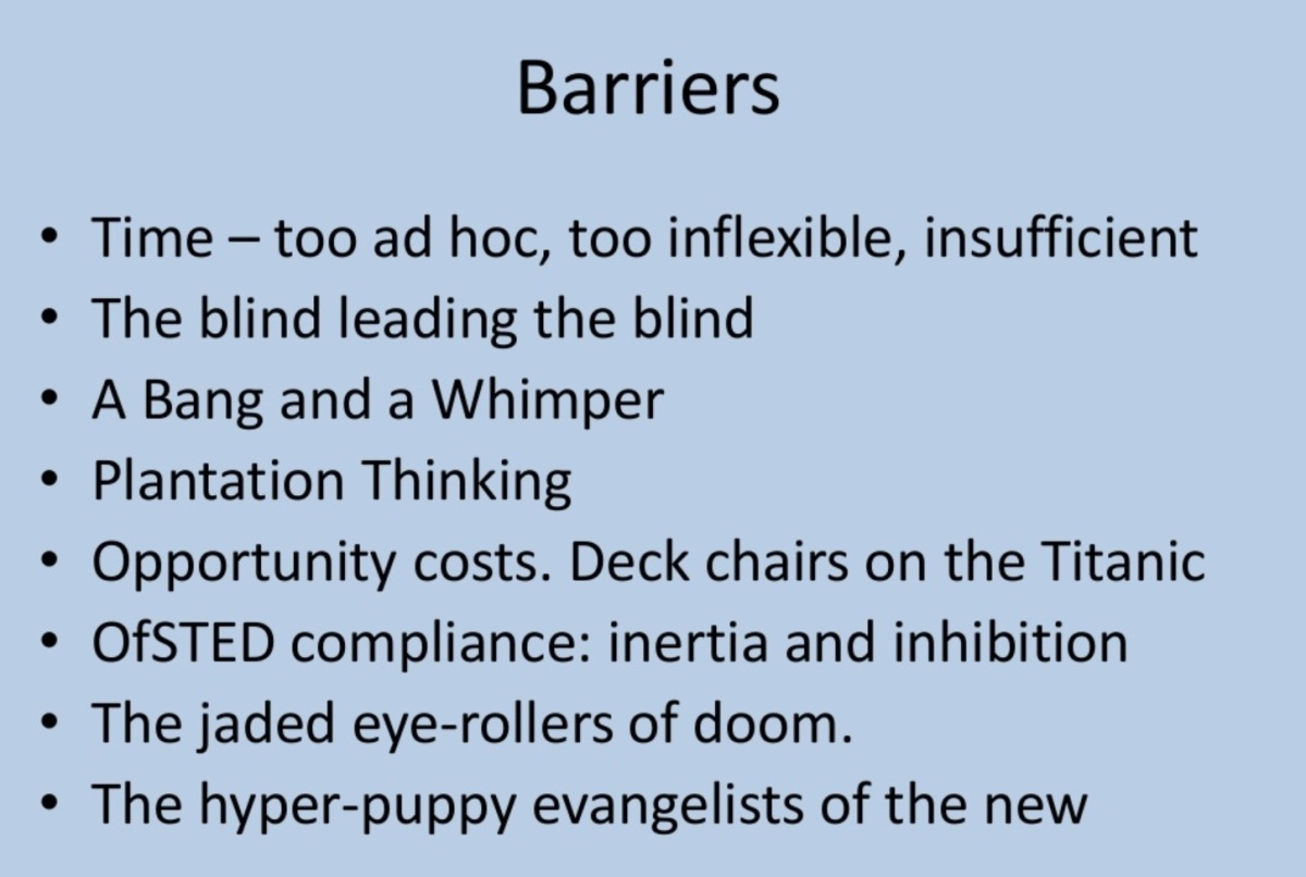 Barriers to Effective CPD