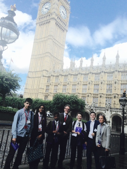 Our trip to the Houses of Parliament.