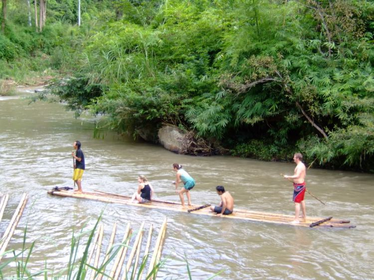 Bamboo rafting. A birthday special.