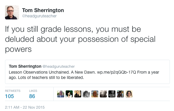 The delusional voodoo of grading lessons has got to stop. (2/4)
