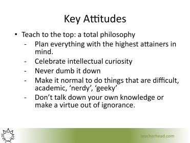 Teaching To The Top Attitudes And Strategies For Delivering Real