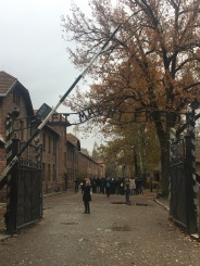 Arbeit Macht Frei - the famous gateway.