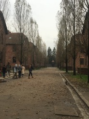 Auschwitz I. The ex-Polish barracks turned into prisoner accommodation and sites of extermination chambers and medical experiments.