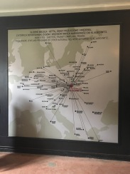 Map showing where Jews and other groups were transported from.