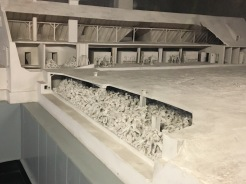 Model showing the underground gas chamber.