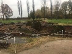 The gas chamber and crematorium - demolished but still a grim reminder. This is where so many people were murdered.