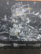 A map of the whole complex including Auschwitz I and II (Birkenau). Industrial scale genocide.