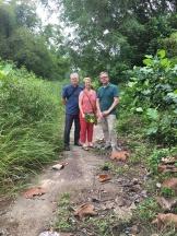 Visiting the crash site in Tanjung Kupang