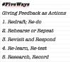 #FiveWays of Giving Effective Feedback asActions