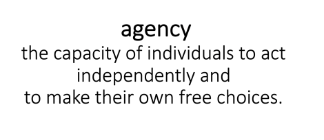 Do students have agency ornot?